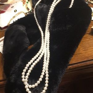 Two strands of costume pearls